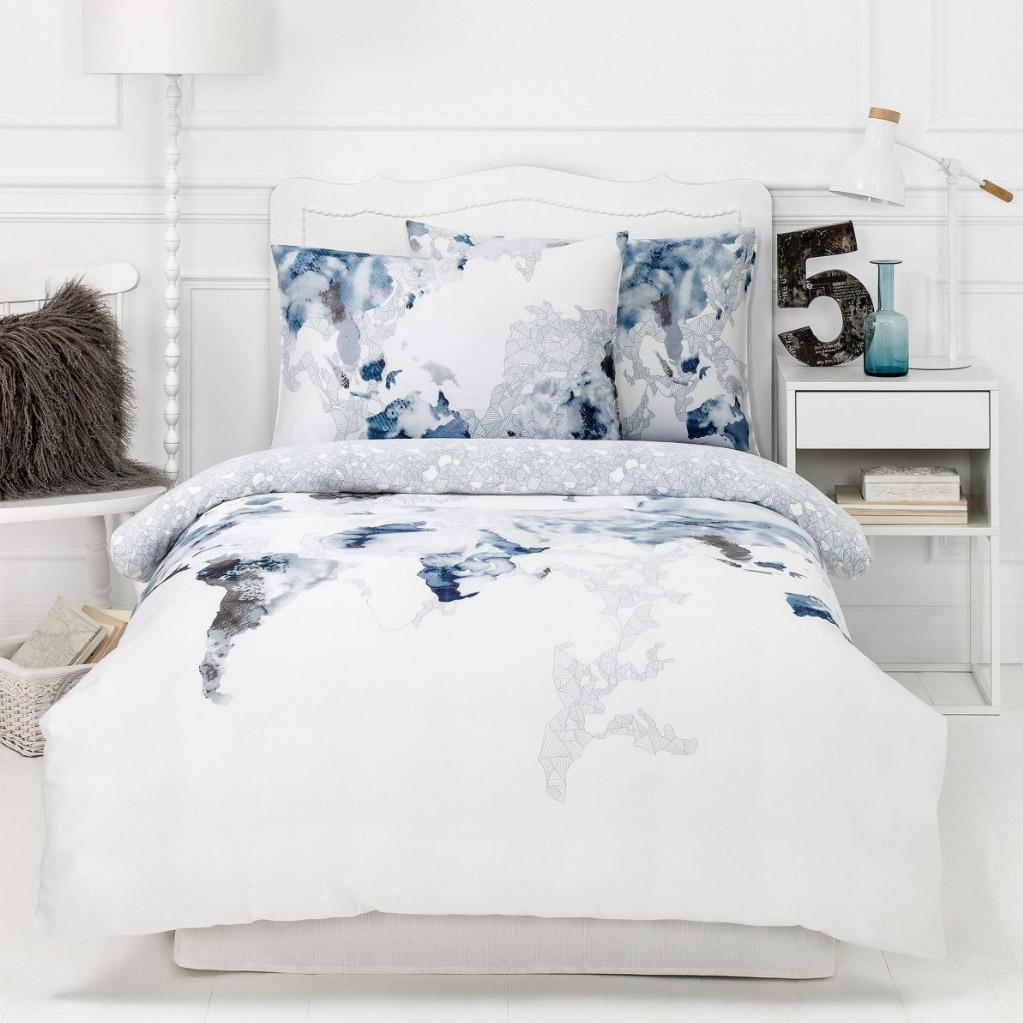 Фото - Постельный комплект Togas Магеллан синий полуторный постельный комплект togas кеннет темно синий полуторный