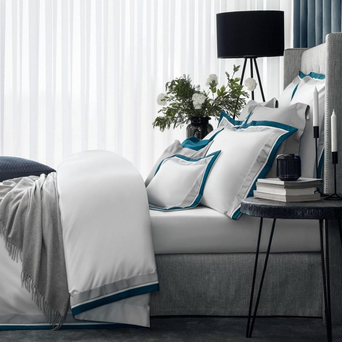 Постельный комплект Togas паллада синий/серый семейный