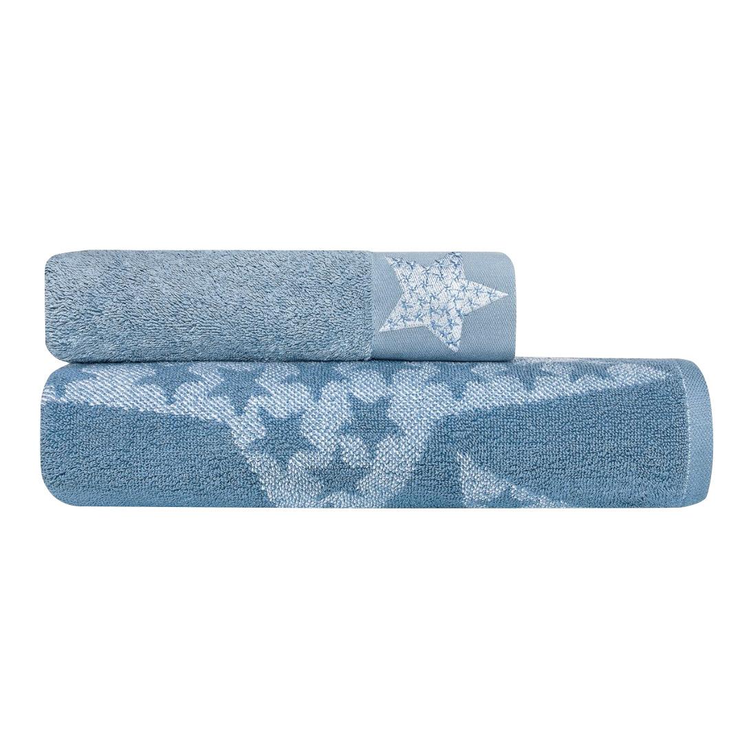 Фото - Комплект полотенец Togas Магеллан белый/голубой 2 пр 50х100/70х140 комплект полотенец togas миэль темно серый 2 пр 50х100 70х140