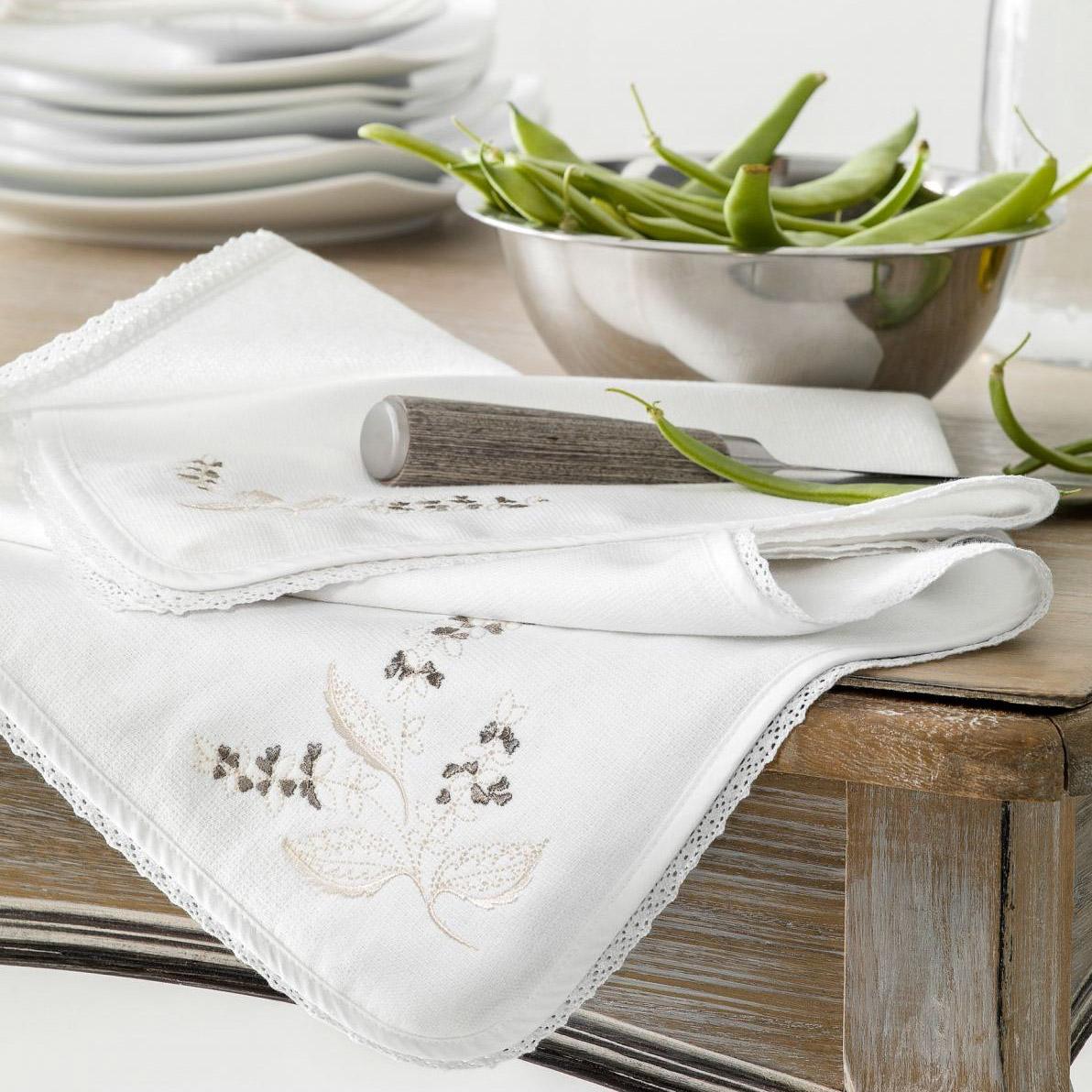 комплект из 3 х кухонных полотенец dinosti год хрюши Комплект полотенец кухонных Togas базилик белый/бежевый 40х60-2