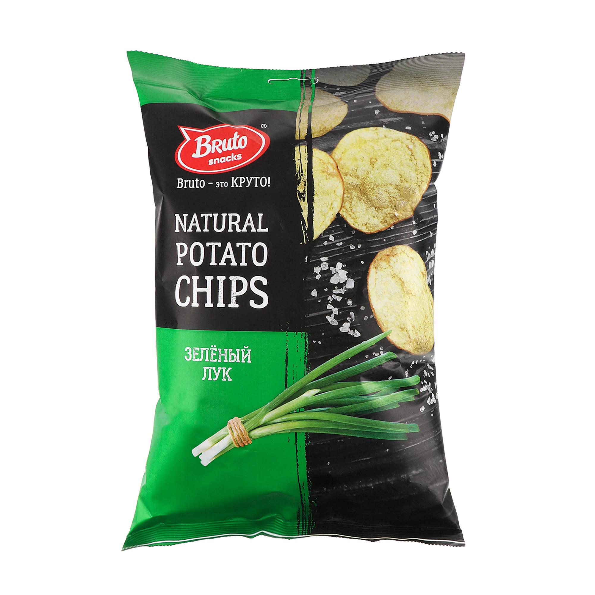 Чипсы картофельные Bruto зеленый лук 150 г недорого