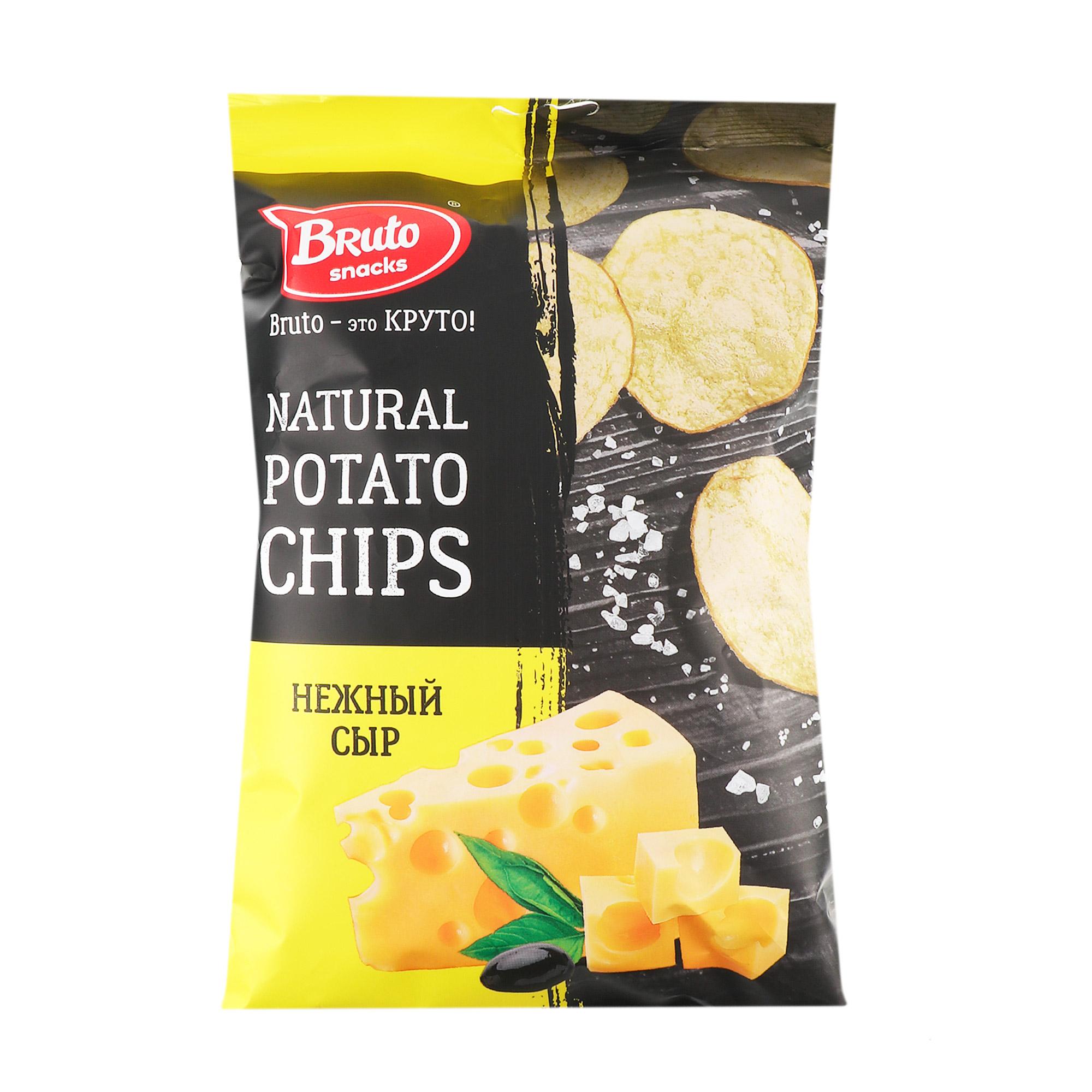 Чипсы картофельные Bruto нежный сыр 150 г чипсы bon giorno картофельные сыр дорблю 90 г