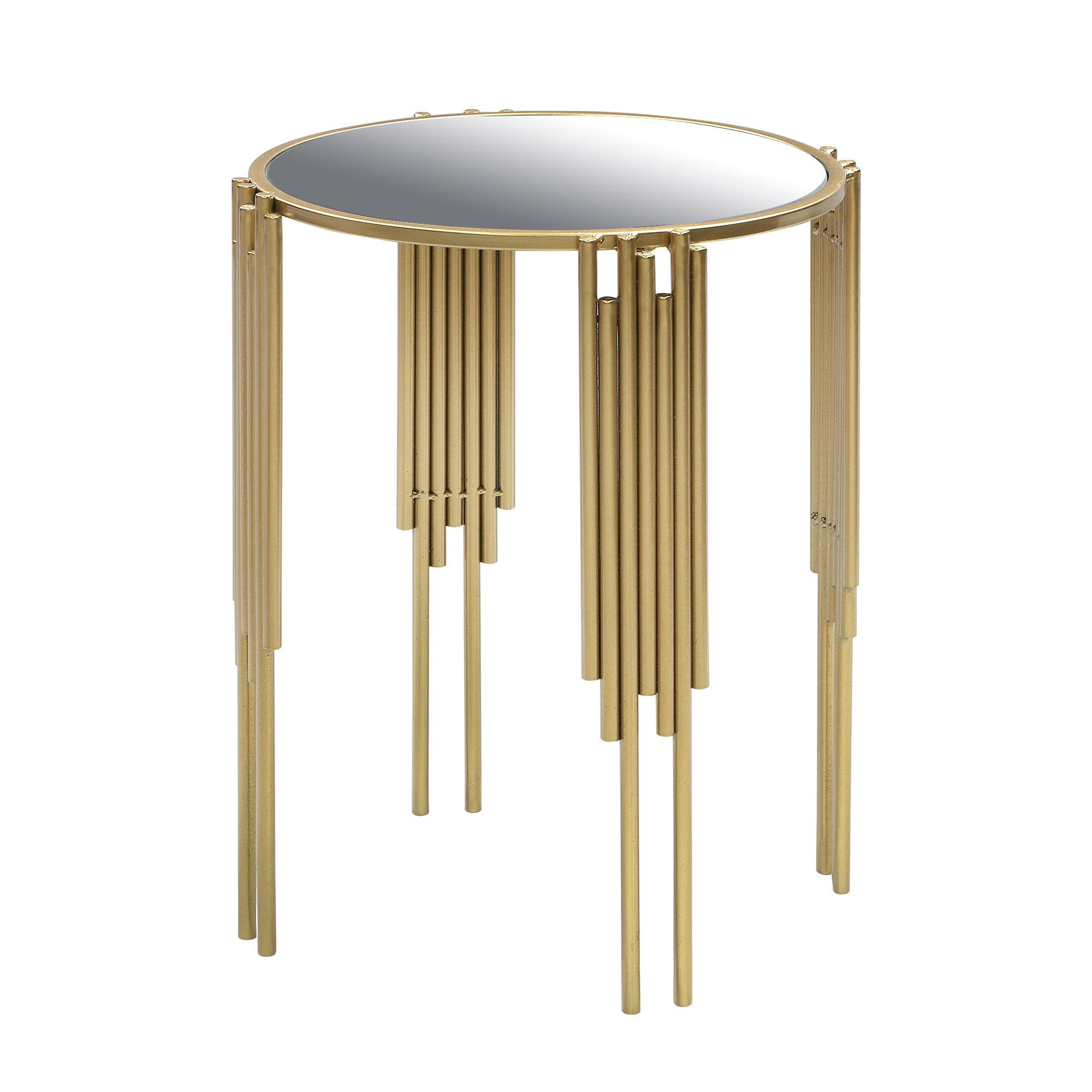 Столик интерьерный Glasar с зеркальной столешницей 42х42х55см