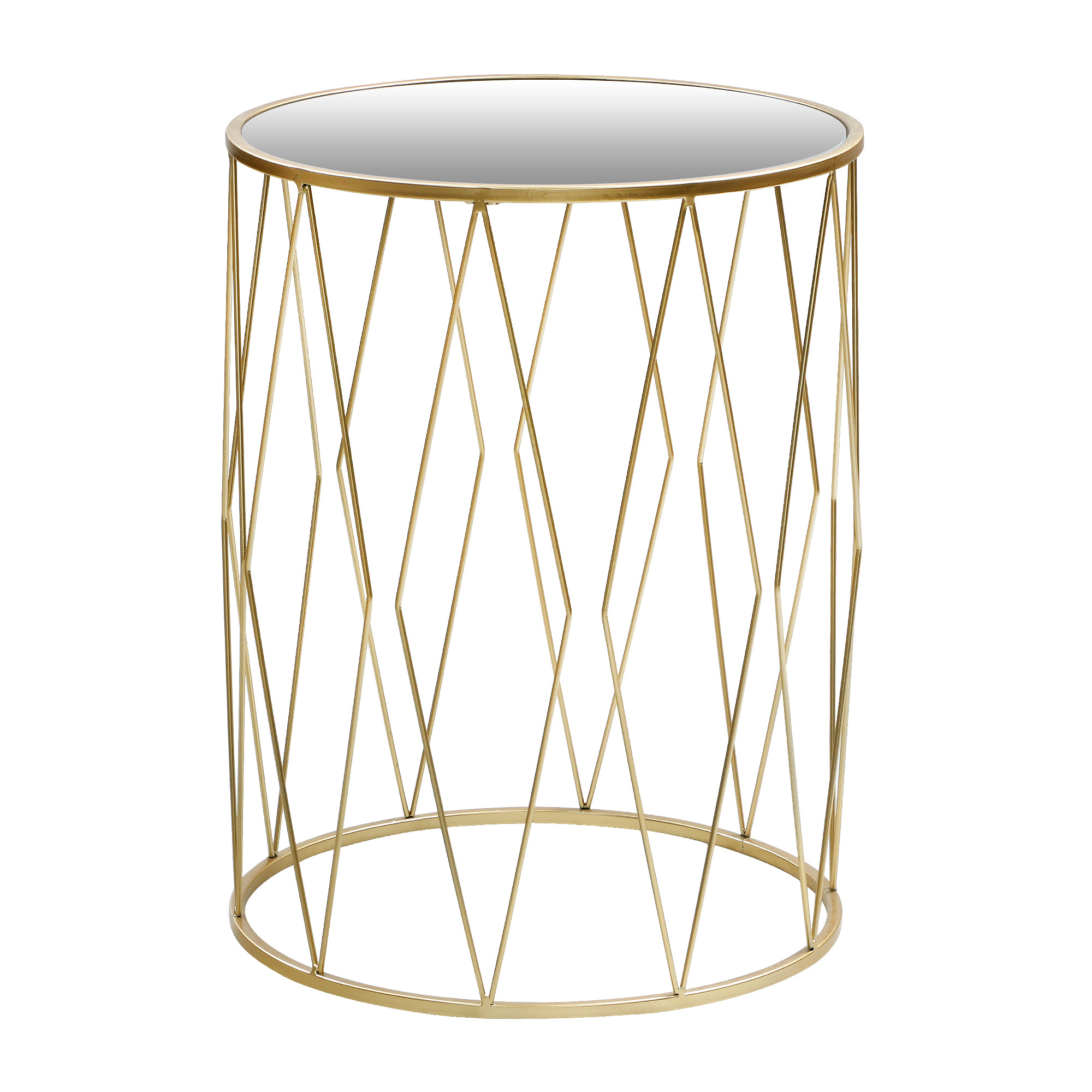 Столик интерьерный Glasar с зеркальной столешницей 40х40х53см