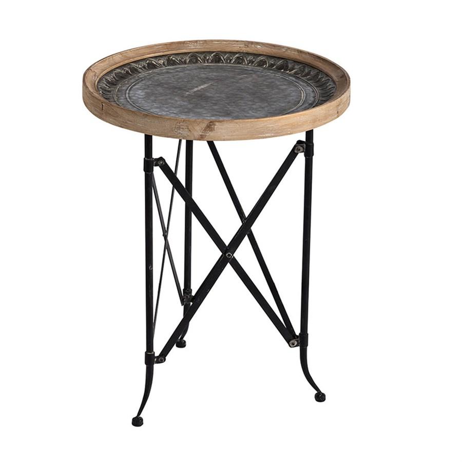 Фото - Столик Glasar 48x48x62 см столик приставной glasar серебристого цвета с золотыми птичками на ветке 43x43x71 см