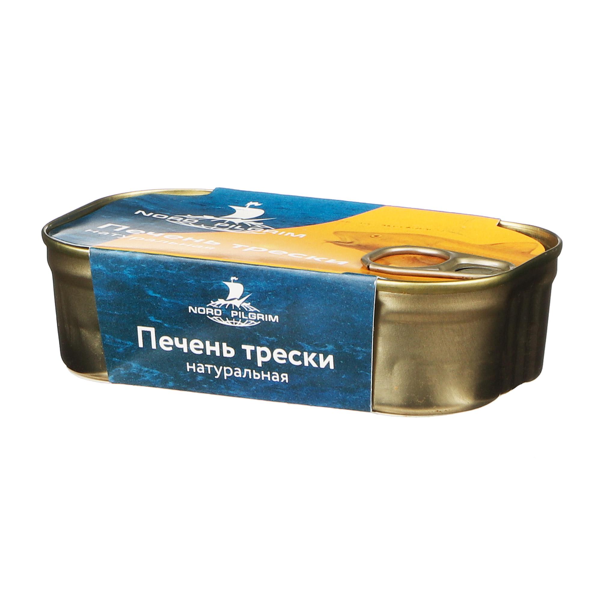 Печень трески Nord Pilgrim натуральная 115 г набор city pilgrim серый
