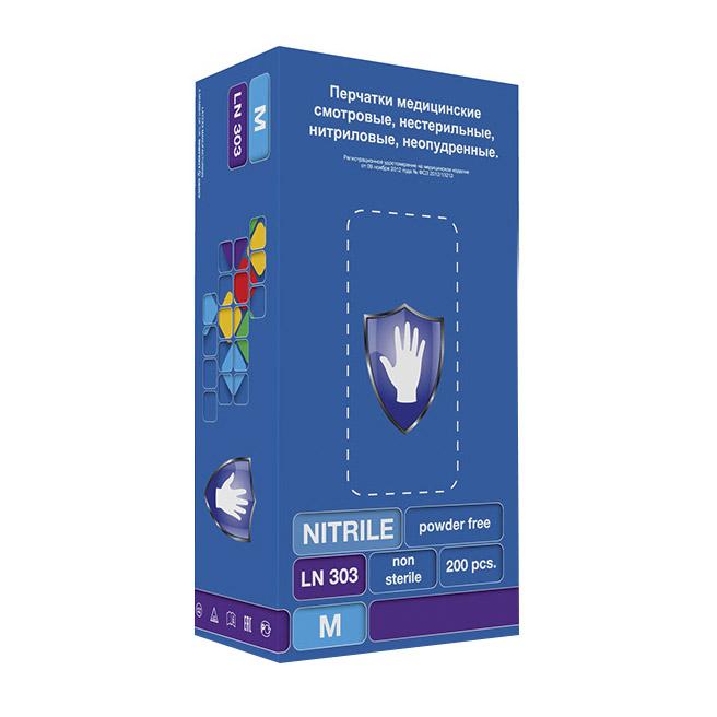 Перчатки Safe&Care LN 303 нитриловые фиолетовые M 200 шт