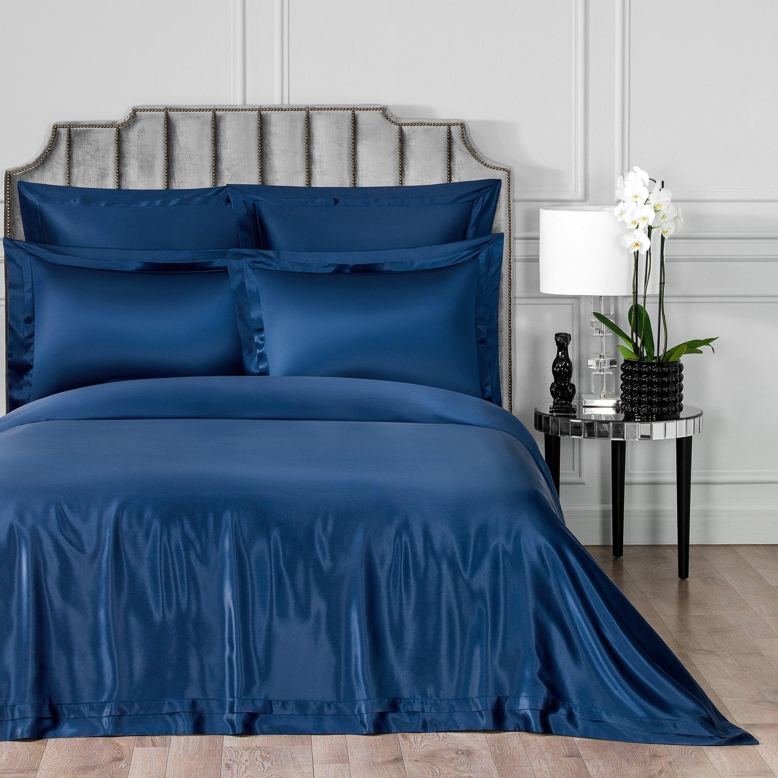 Постельный комплект Togas Элит темно-синий двуспальный евро