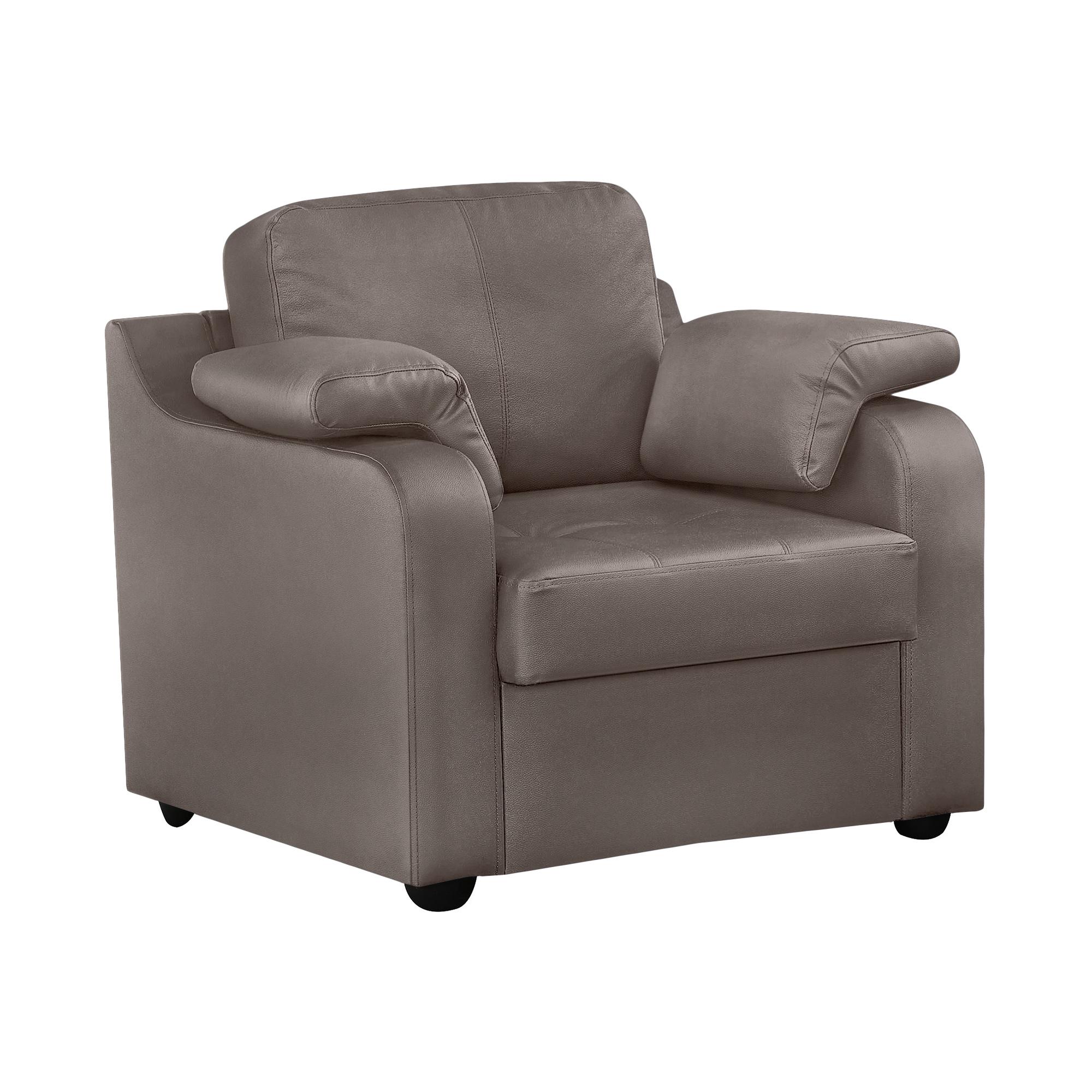 Кресло ФС Надия натуральная кожа 89x88x88 серое