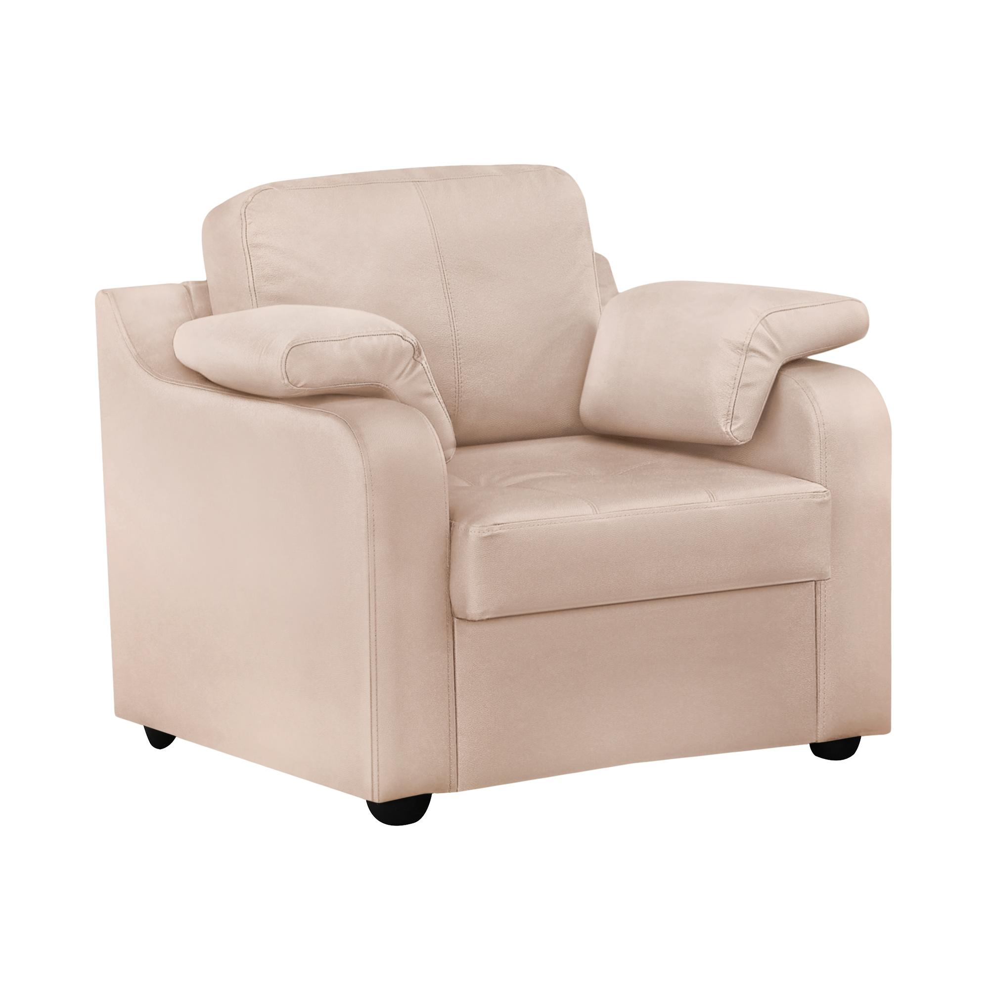 Кресло ФС Надия натуральная кожа 89x88x88 кремовый