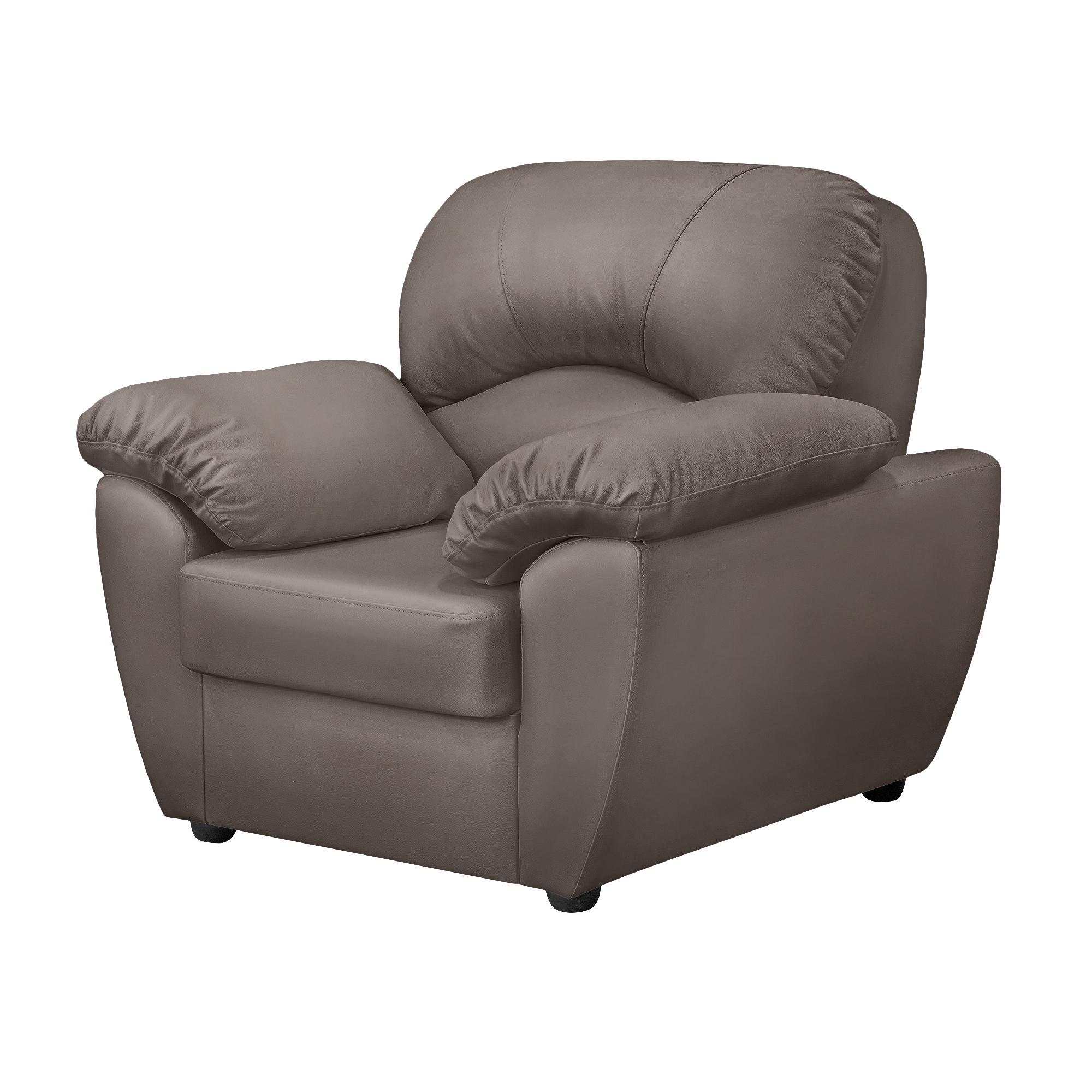 Кресло ФС Нона натуральная кожа 104x93x95 серое фото