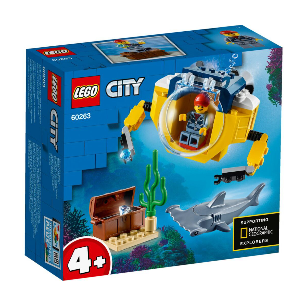 Фото - Конструктор Lego Океан: мини-подлодка 60263 lego записная книжка lego classic duck build с ручкой и мини фигурой 192 листа