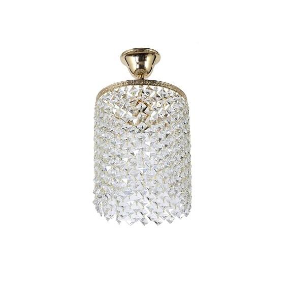 Люстра Stella потолочная хрустальная, цвет золото, хрусталь Elite, 1 лампочка Е 27
