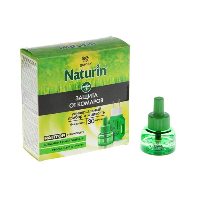 Комплект жидкостной Gardex Naturin от комаров без запаха 30 ночей.