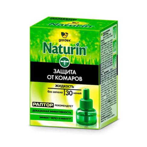 Жидкость Gardex Naturin от комаров без запаха 30 ночей.