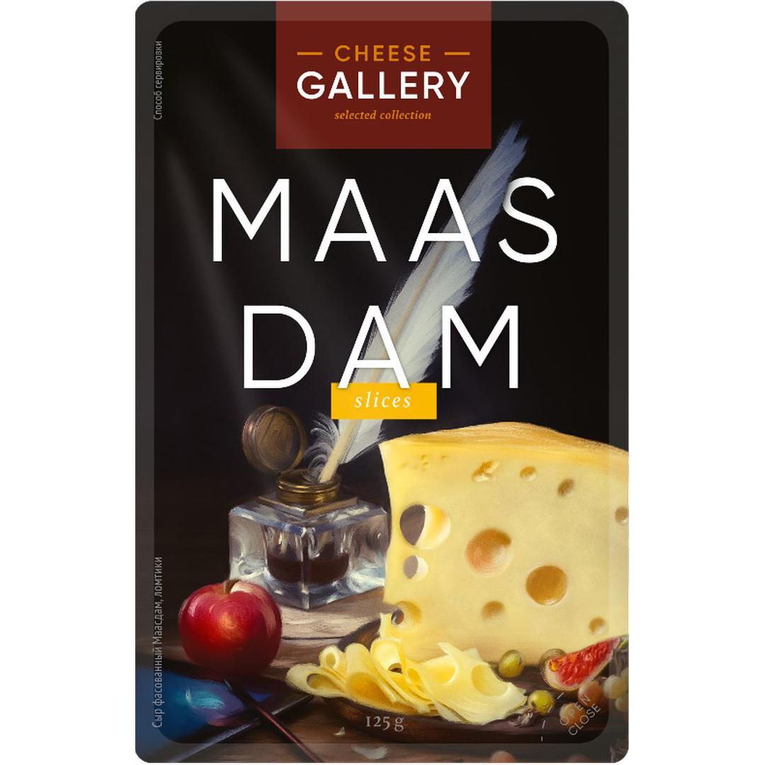 Сыр Cheese Gallery Маасдам 45% 125 г cheese gallery sante blue крем сыр 150 г