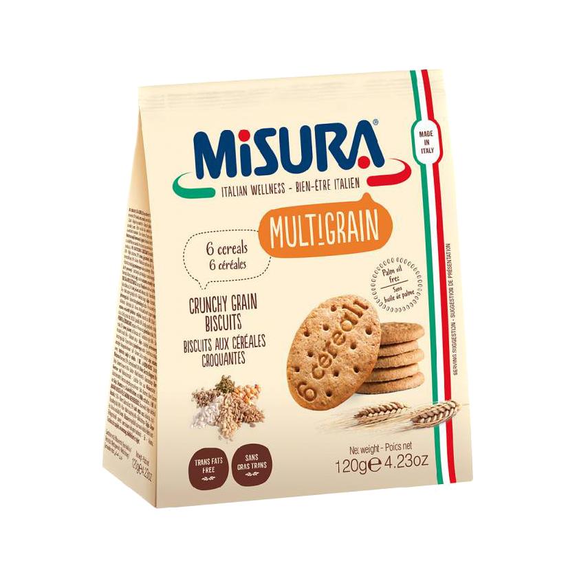 Печенье мультизлаковое Misura Multigrain 6 злаков 120 г туфли wittchen 87 m 910 8 42 6 42 размер