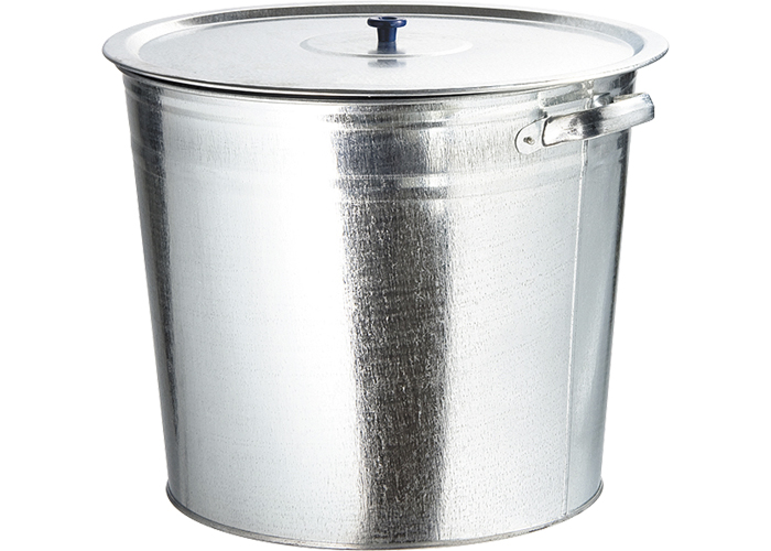 Бак для воды оцинкованный с крышкой Ми (крышка с ручкой) 20л, без крана бак оцинкованный с решеткой 32 л