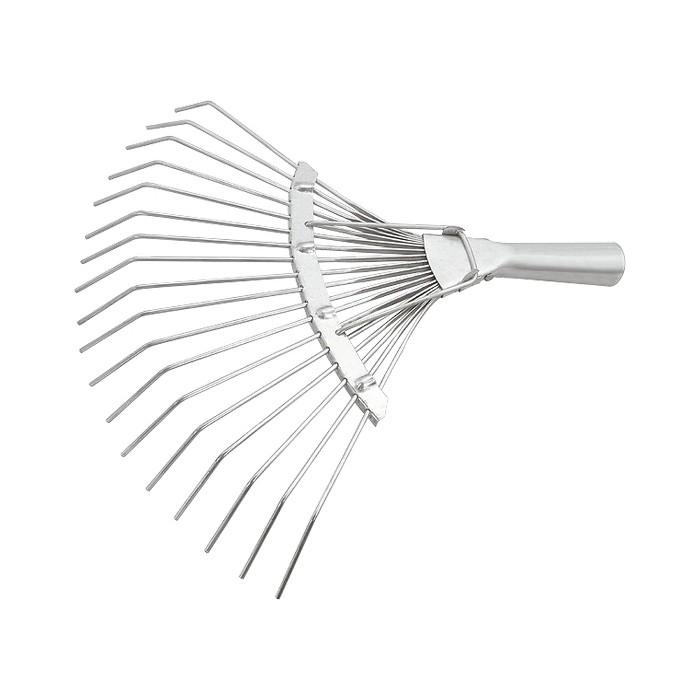 Грабли веерные стальные Сибртех 360 мм, 18 круглых зубьев, оцинкованные, без черенка вилы сибртех 145x235mm без черенка 63834