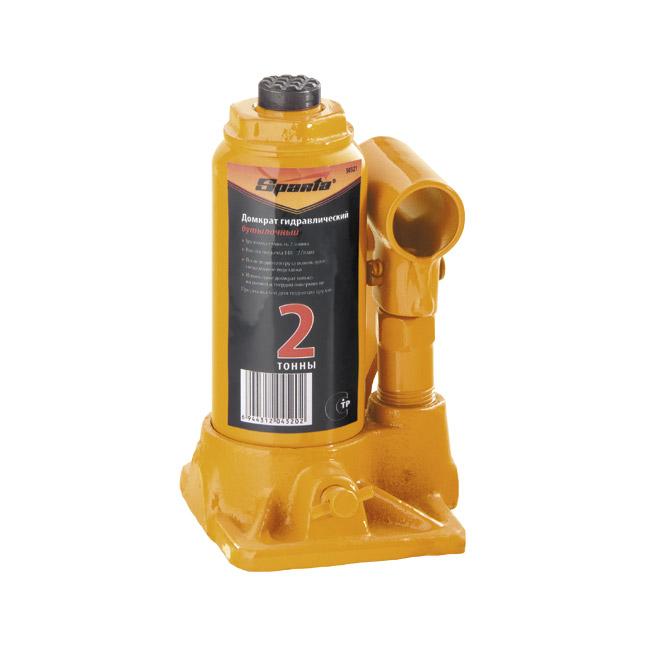 Домкрат Sparta гидравлический бутылочный, 2 т, h подъема 148–278 мм домкрат сорокин 3 148