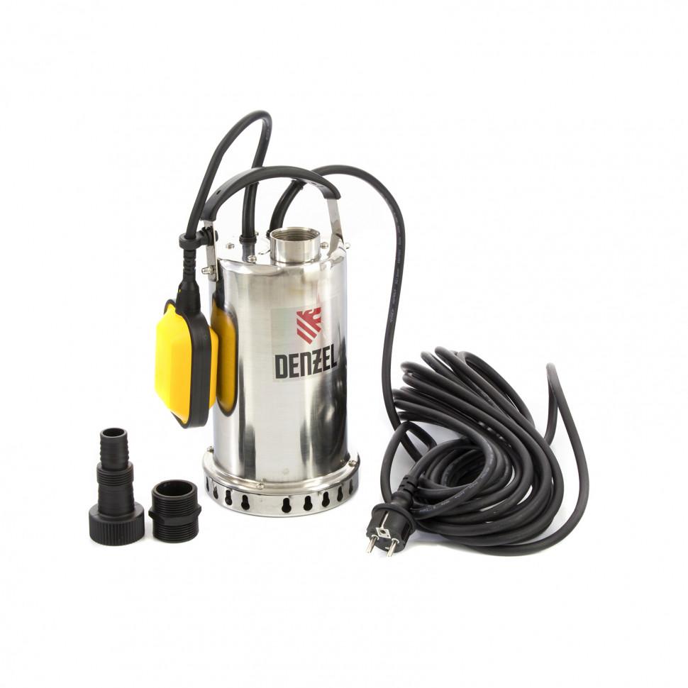 Дренажный насос Denzel DP600X, 600 Вт, подъем 7,5 м, 8500 л/ч