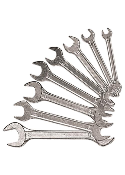 Набор ключей рожковых Sparta 6 х 22 мм, 8 шт., хромированные набор ключей накидных sparta 6 22мм 8шт 153755