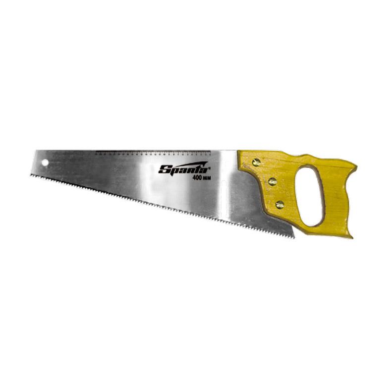 Фото - Ножовка по дереву Sparta 400 мм, 7-8 ТРI, каленый зуб, линейка, деревянная рукоятка ножовка по дереву jcb jsw003