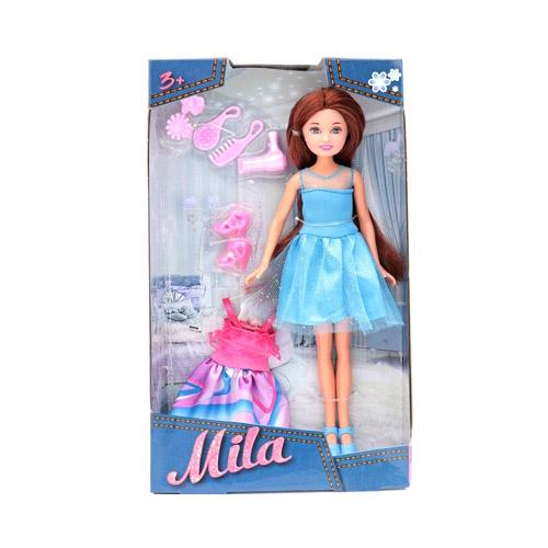 Кукла Funky Toys Мила со сменным платьем и аксессуарами 23 см funky toys кукла funky toys мила 23 см с куклой вики 12 см на самокате и с собачкой