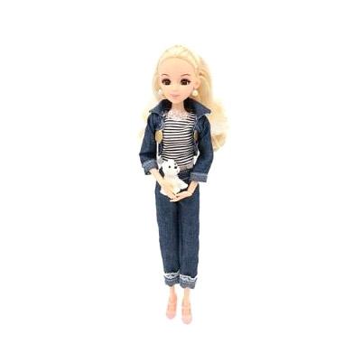 Кукла шарнирная Funky Toys Эмили на прогулке 29 см funky toys кукла funky toys мила 23 см с куклой вики 12 см на самокате и с собачкой