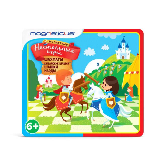 Магнитные настольные игры Magneticus 4 в 1 BG-003