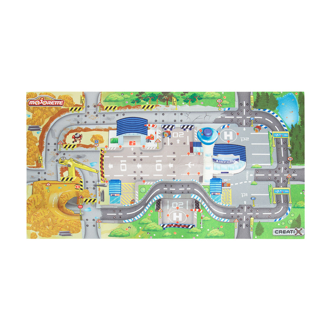 Игровой коврик Majorette Creatix Construction 2056412