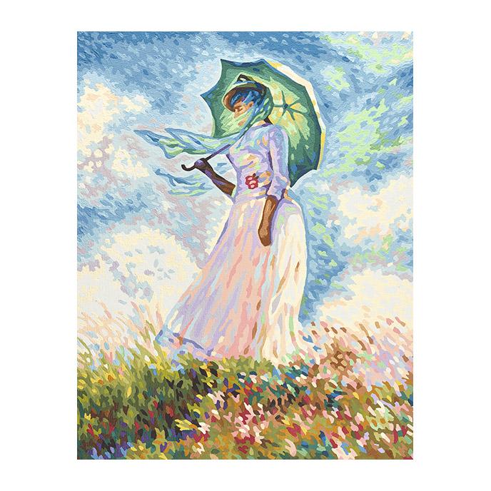 Набор для живописи по номерам Дама с зонтиком, Клод Моне 40x50 см