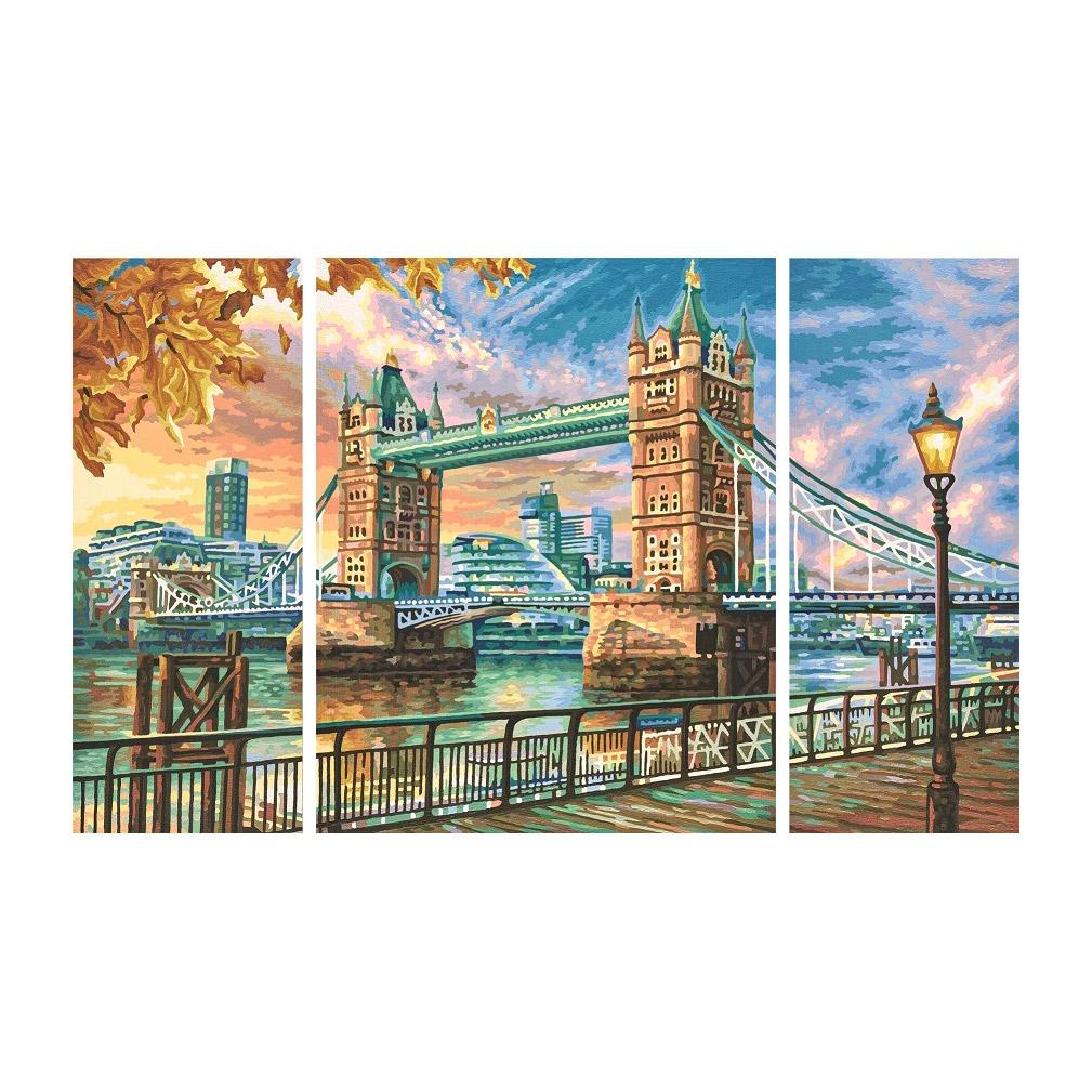 Набор для живописи по номерам Триптих Тауэрский мост 50х80 см