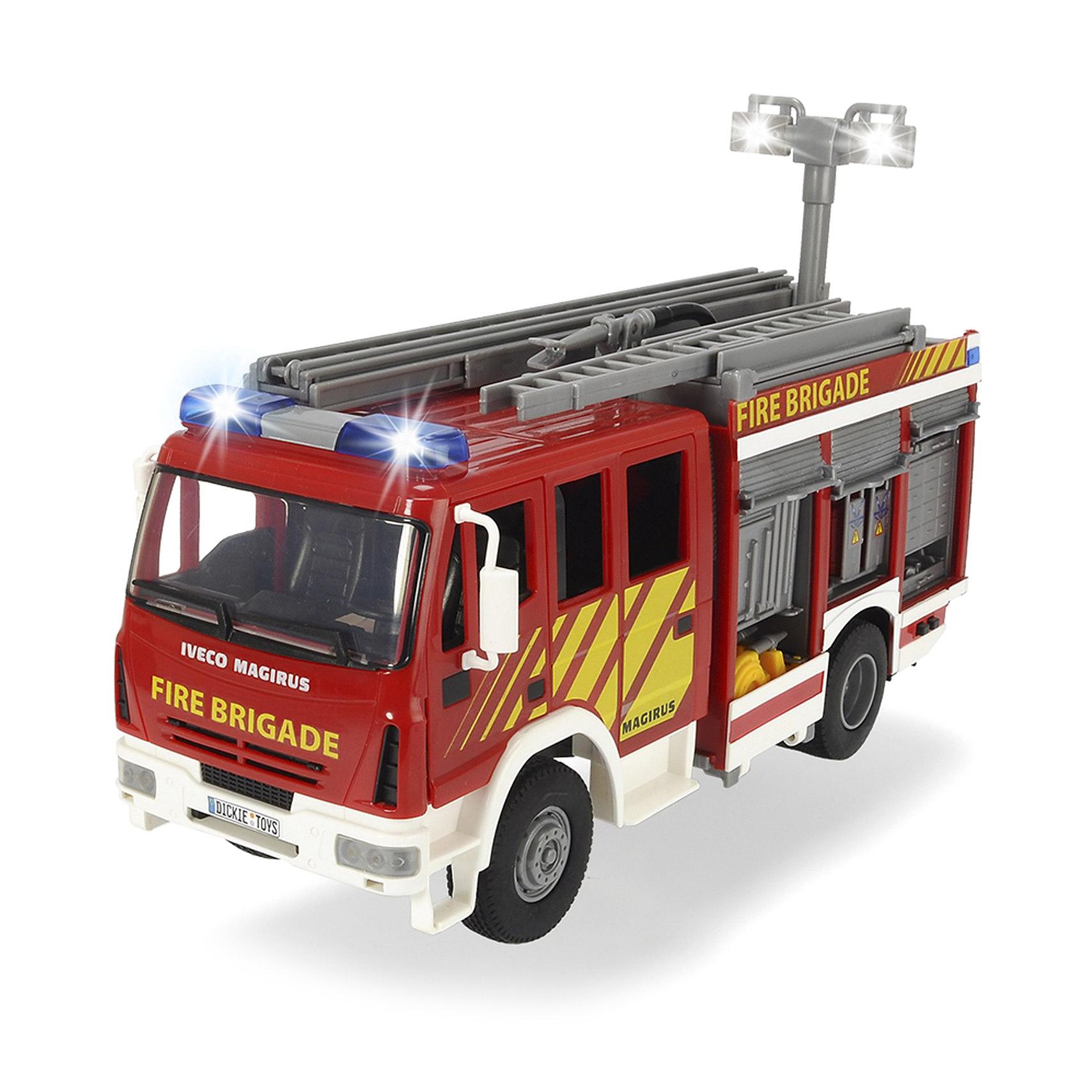 Пожарная машина Dickie с водой 30 см машина dickie мусоровоз 30 см