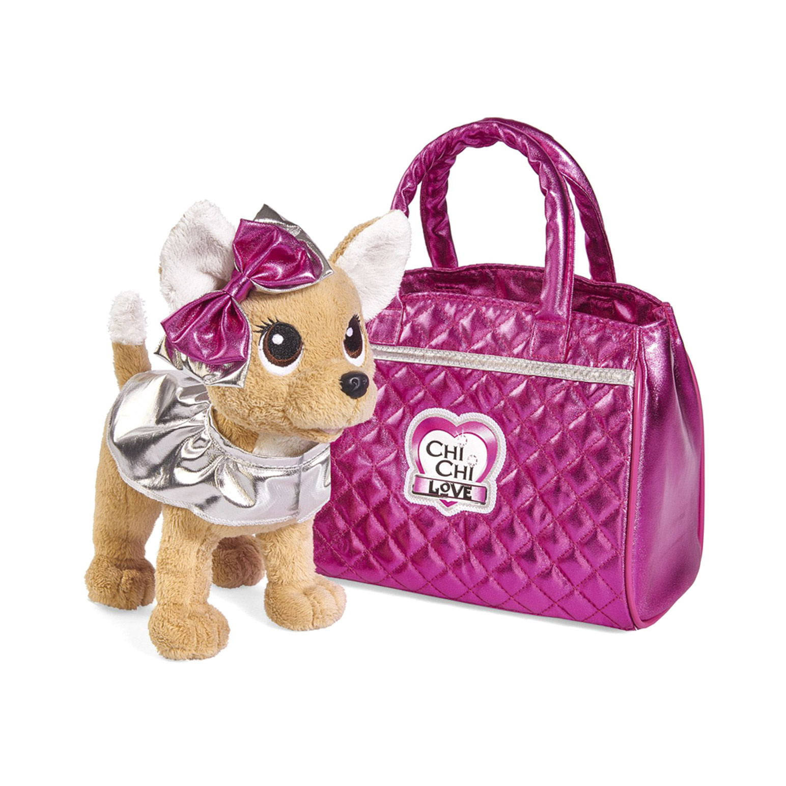 Фото - Игрушка мягкая Chi Chi Love Собачка Гламур с розовой сумочкой и бантом 20 см игровой набор chi chi love simba коллекционная собачка чи чи 5893111chi