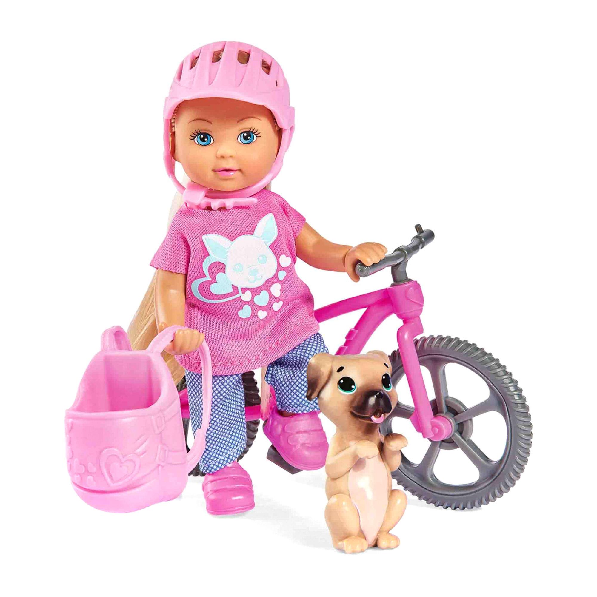 Кукла Еви на велопрогулке с собачкой 12 см куклы и одежда для кукол simba кукла еви на велопрогулке с собачкой 12 см