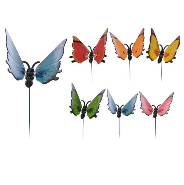 Декор садовый Koopman garden бабочка штекер 15x17cm