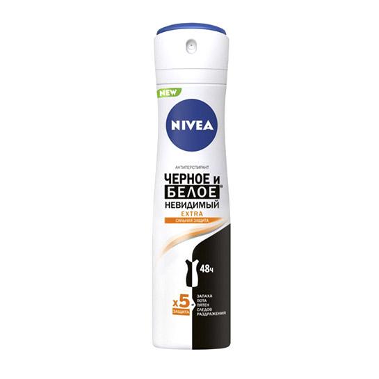 Дезодорант-спрей для женщин Nivea Черное и белое Невидимый Extra 150 мл недорого