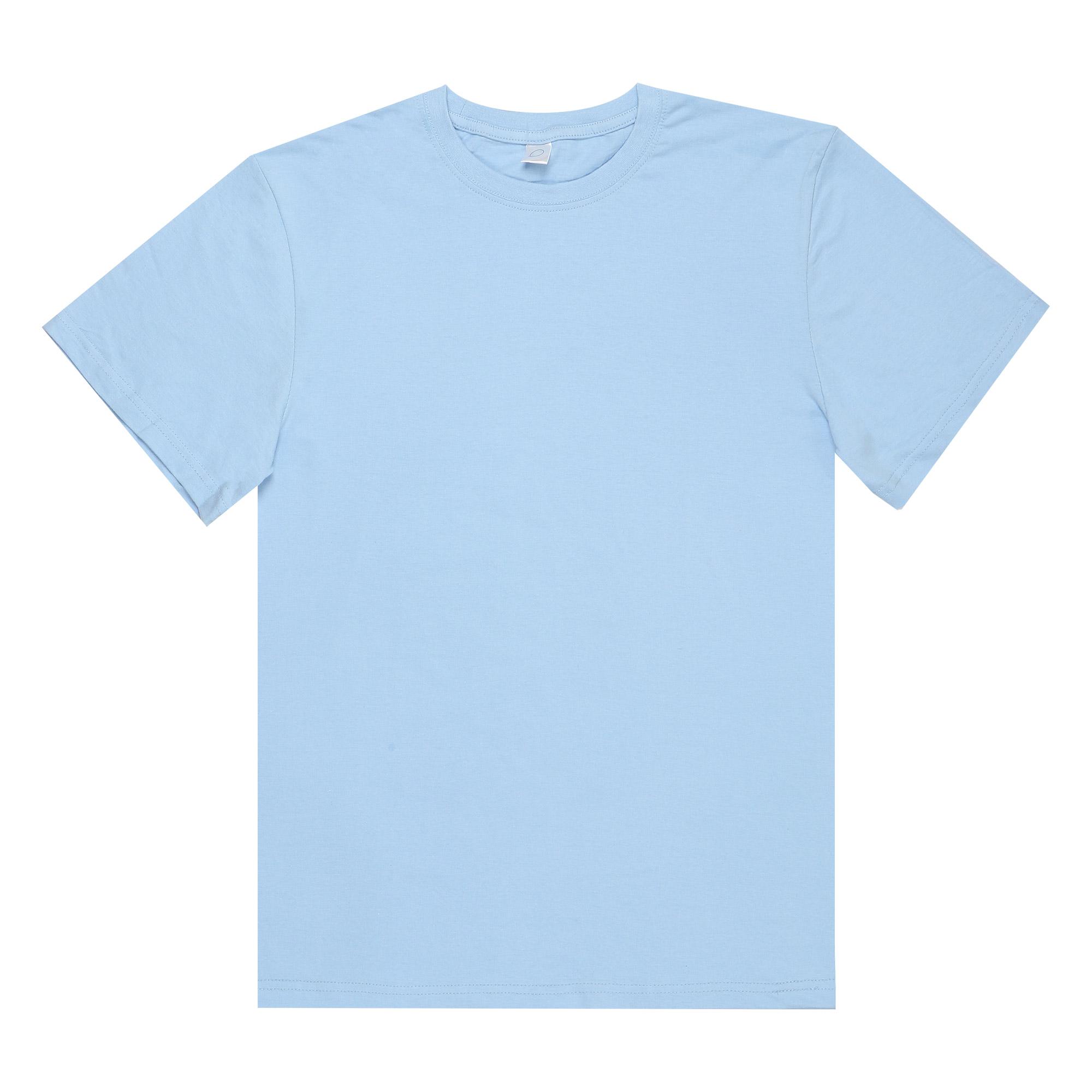 Футболка мужская M-1 Promo голубая с коротким рукавом M