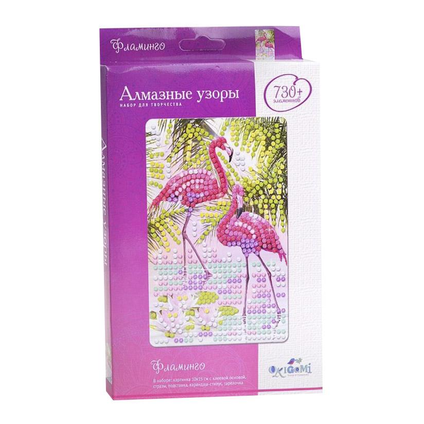Алмазная мозаика Алмазные узоры. Фламинго