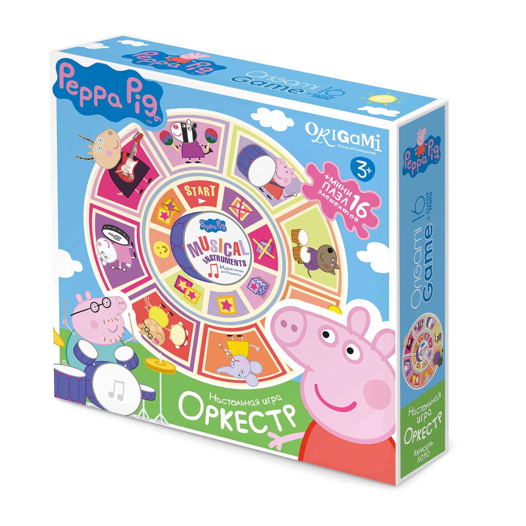 Настольная игра карусель-лото Peppa Pig. Оркестр фото