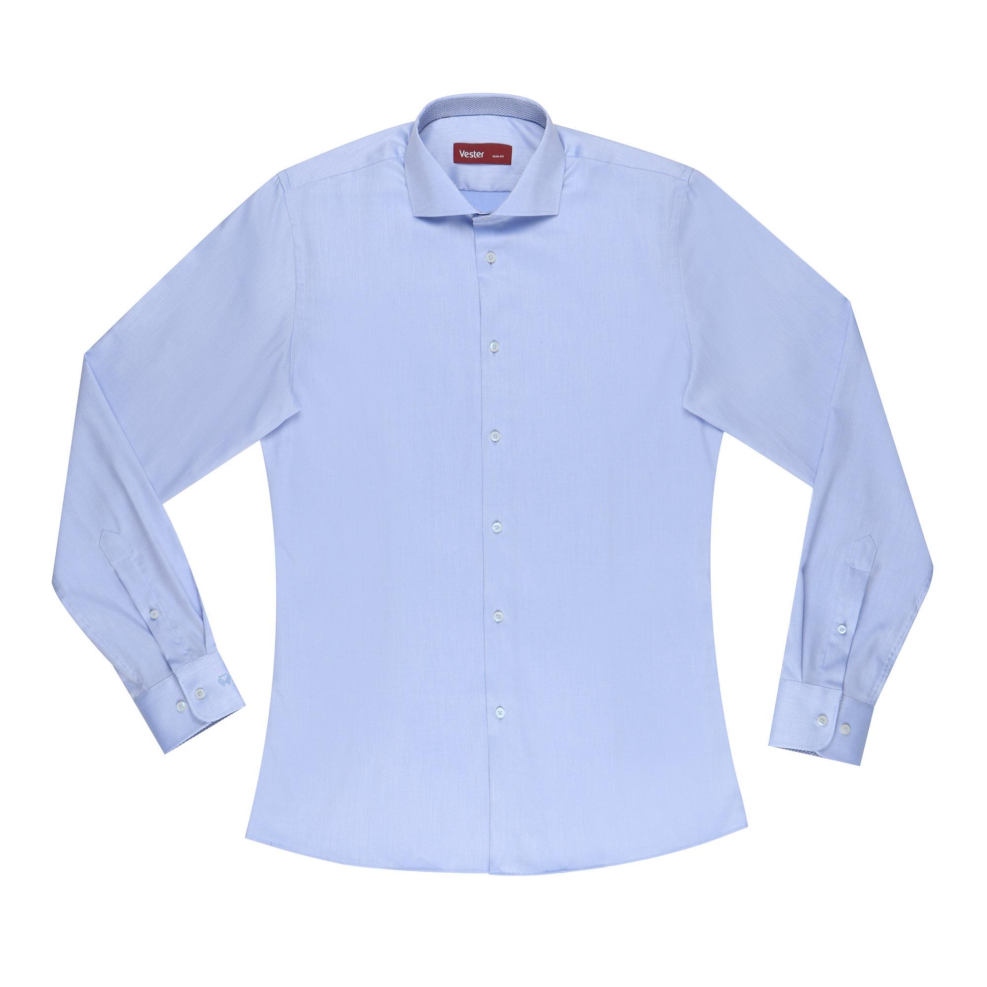 Сорочка мужская Vester 41S 182-188 голубая сорочка мужская vester 43с 182 188 небесно голубая