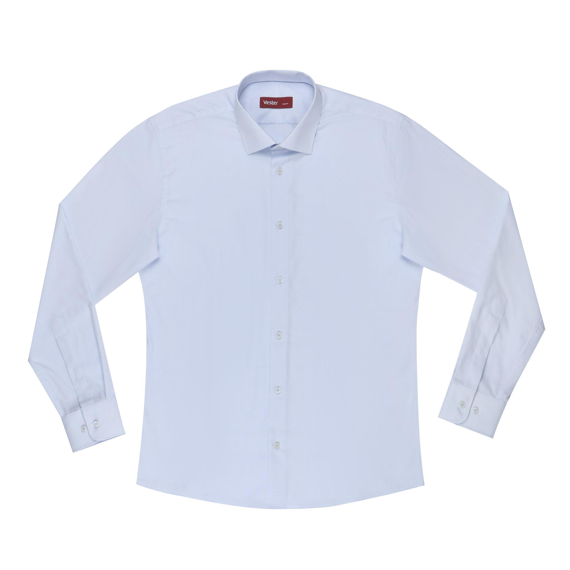 Сорочка мужская Vester 44С 182-188 небесно-голубая сорочка мужская vester 43с 182 188 небесно голубая