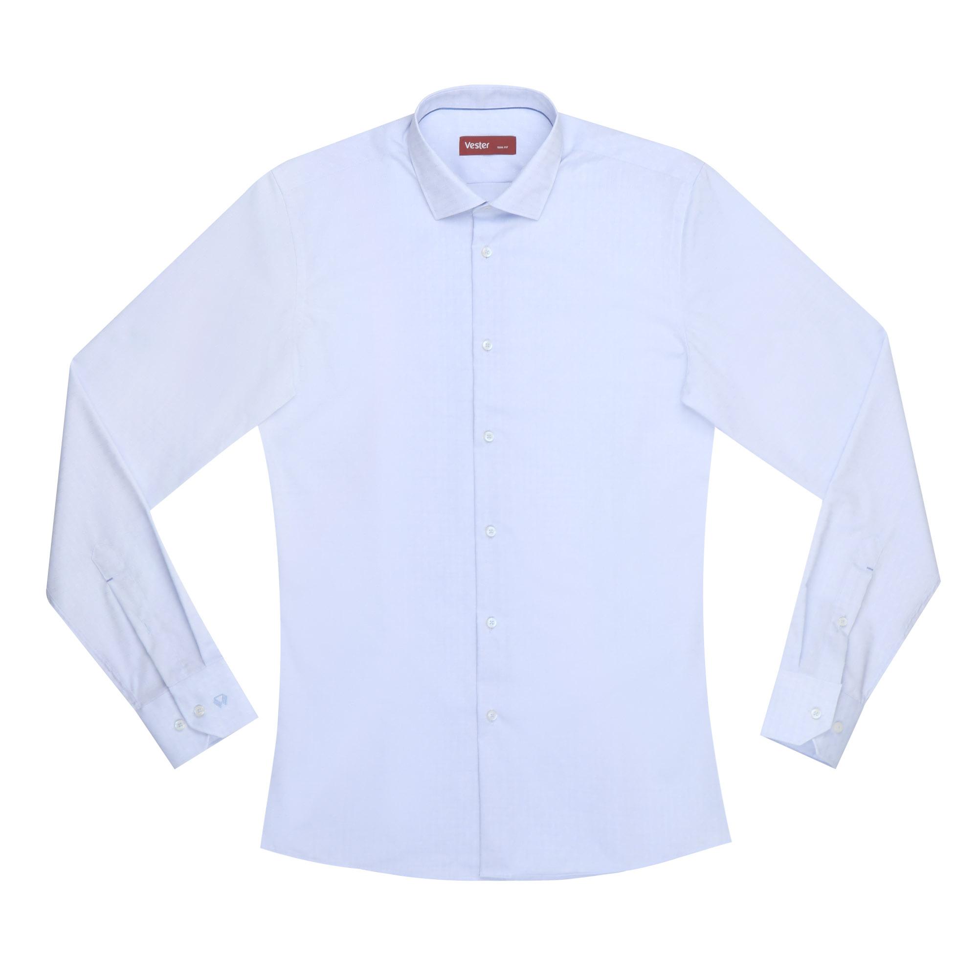 Сорочка мужская Vester 18816 голубая 39S 176-182 сорочка мужская vester 43с 182 188 небесно голубая