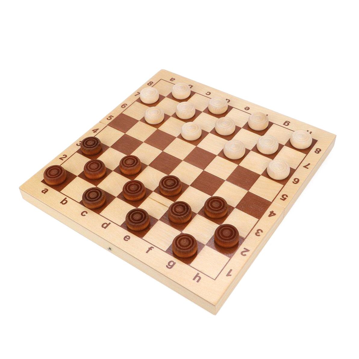 Настольная игра Десятое королевство Шашки деревянные 29x29 см десятое королевство td00995 игра настольная космобой