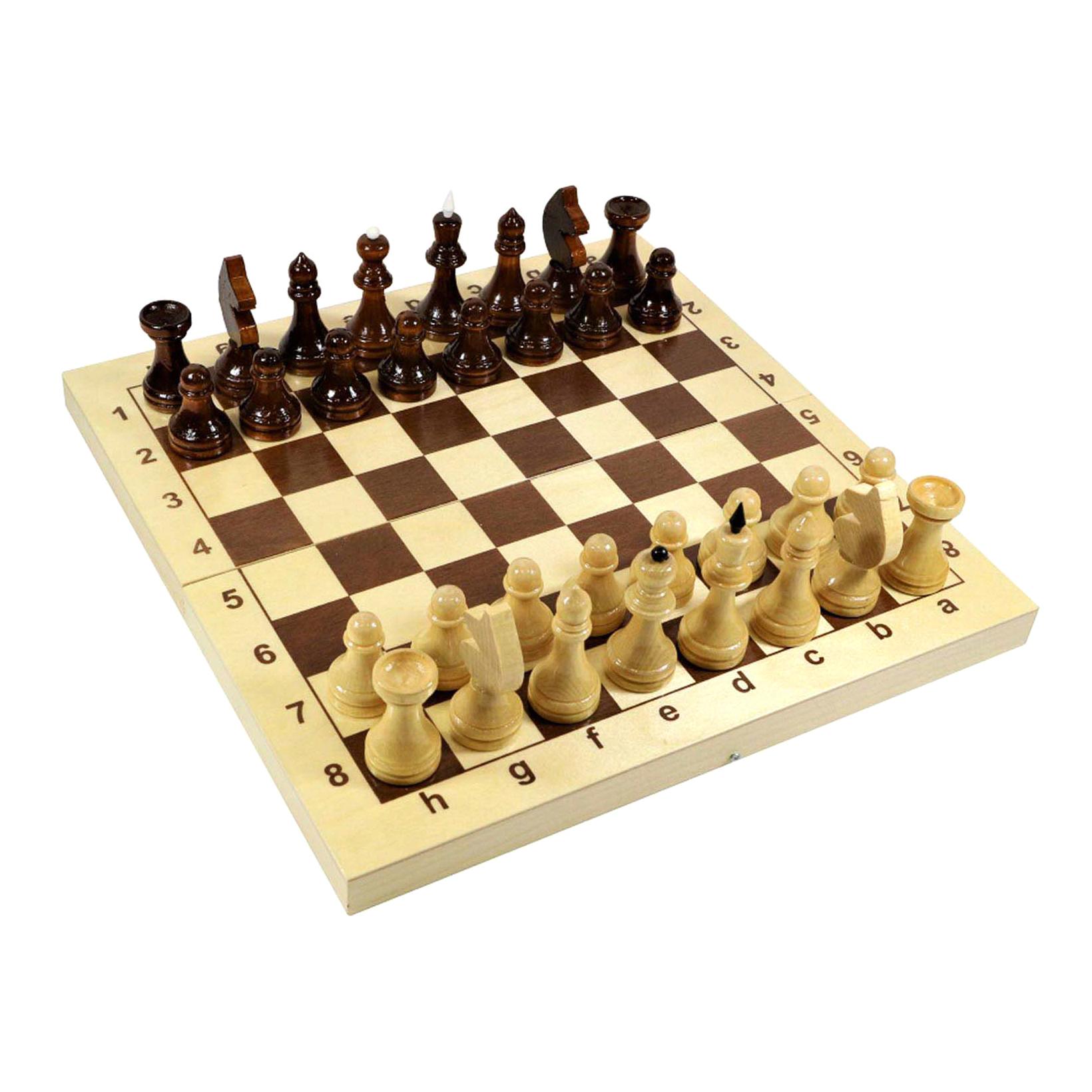 Настольная игра Десятое королевство Щахматы деревянные 29x29 см десятое королевство td00995 игра настольная космобой