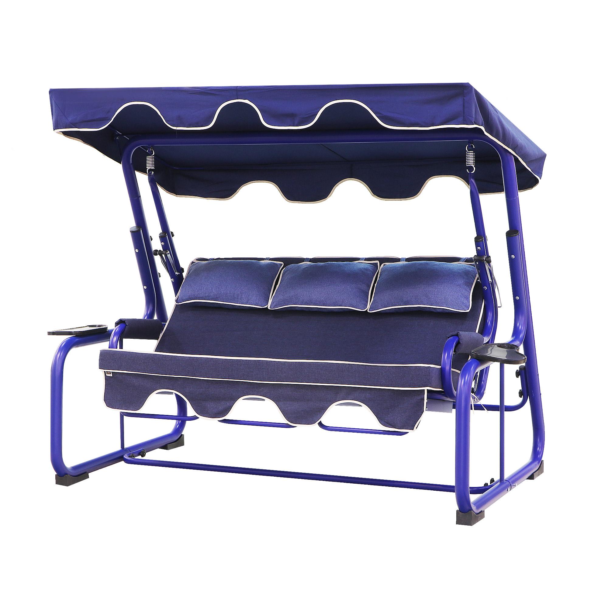 Диван-качели 3-местный Erinoz UC20060BL-FM мебель для дачи