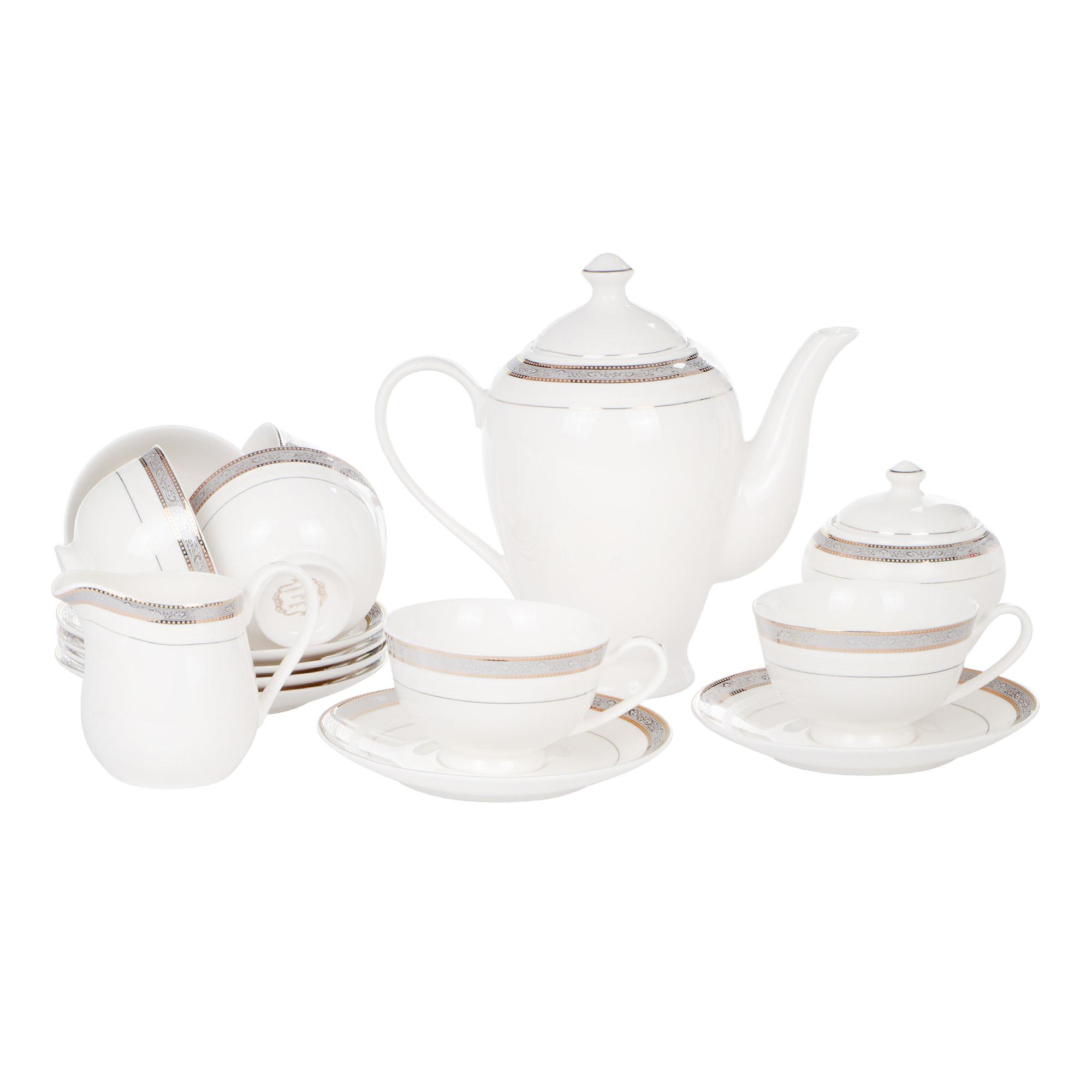 Сервиз чайный Macbeth bone porcelain Daisy 15 предметов