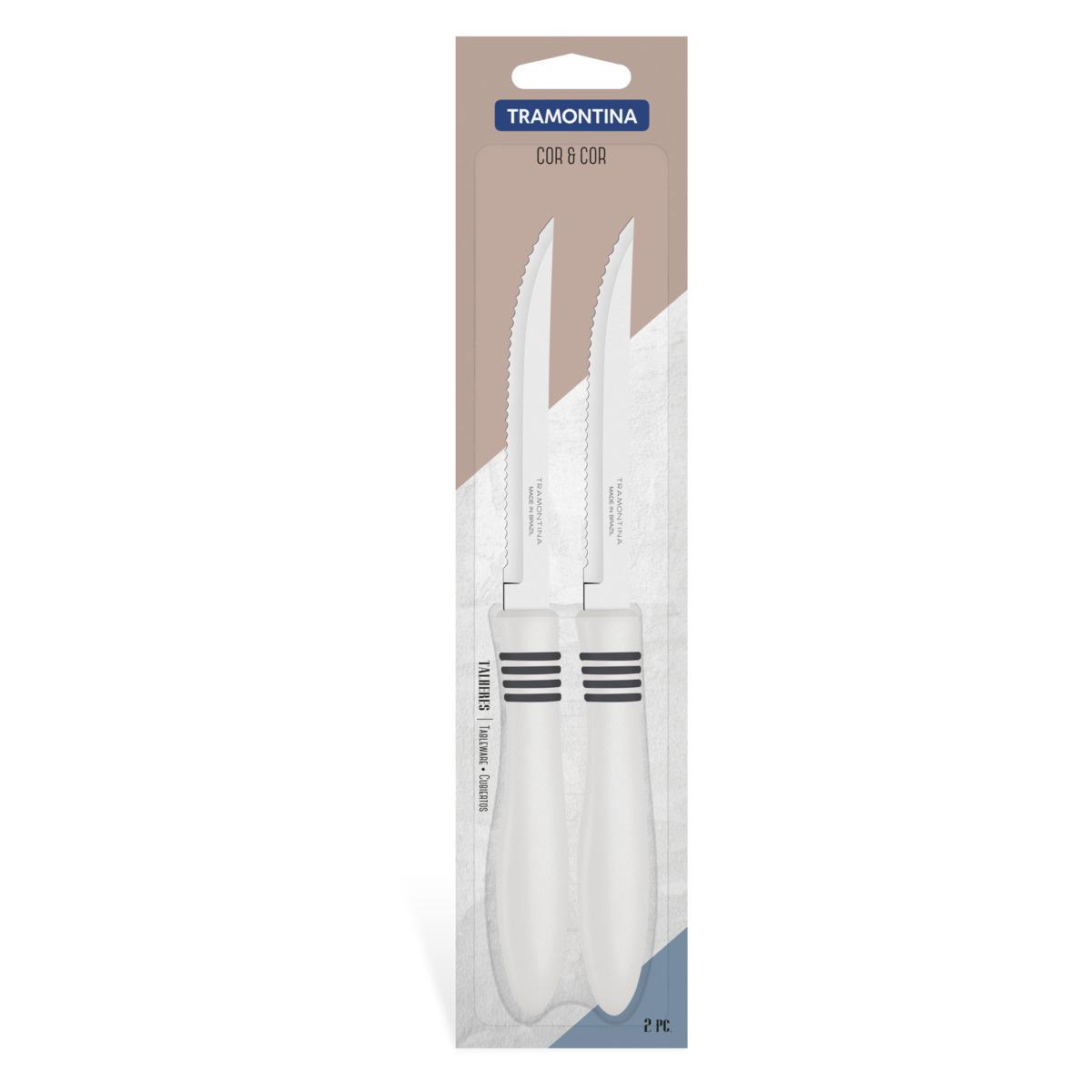 Набор ножей для мяса Tramontina из 2 предметов Cor&Cor 13 см