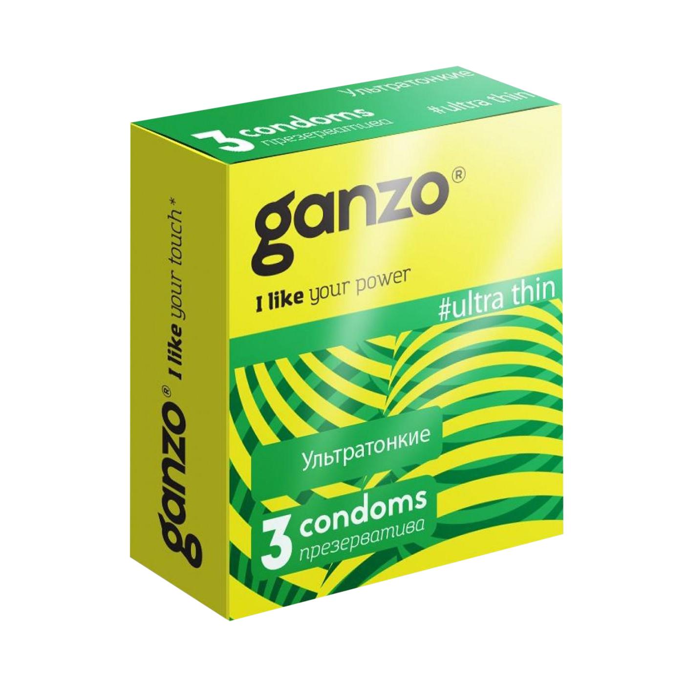 Презервативы Ganzo ultra thin ультратонкие 3 шт
